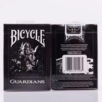 Wholesale Bicycle Playing Cards Free Shipping - Free shipping Bicycle Guardians Playing Cards By Theory11 Black Magic Cardistry Deck Guardian Magic Tricks Magic Props