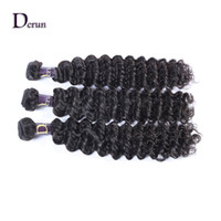 Wholesale deep wave perm - New Arrival!!! 3pcs 10-30inches Brazilian Deep wave Human Hair Weft Extension Natural Color Hair Weave Fast Shipping