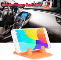 Wholesale Mats For Cars - Silicone Mobile Phone Holder Car Dashboard GPS Anti Slip Mat Desktop Stand Bracket for iPhone 5s 6 7 Samsung Tablet