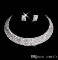 halskette machen zubehör großhandel-Designer 150-35 Sexy Men-Made Diamantohrring-Halsketten-Partei-Abschlussball-formale Hochzeits-Schmucksache-gesetzte Brautzusätze Freies Verschiffen auf Lager