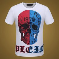Wholesale Fashion Short Sleeve Cotton shirt men famous Brand pp t shirts for men hip hop skull mens tops tee tshirt
