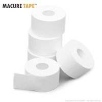 Vente en gros- Macure Tape 2.5cmx10m Tissu athlétique White Sports Tape Bulk Pack 12 Rolls Easy Tear By Hand Avec Zigzag Edges