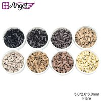 Wholesale Hair Extension Micro Beads Tools - GH Angel High quality 1000pcs bottle 3.0*2.6*6.0mm Micro copper beads copper tubes micro rings tools for i link hair extension