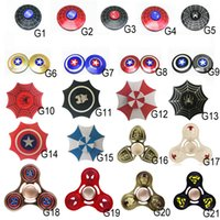 Wholesale Dragon Tip - 100 types Rainbow LED Light Up Hand Fidget Spinner Triangle Finger Spinning Top Colorful Decompression Dragon Fingers Tip Tops Toys OTH384