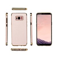 Wholesale Protect Pc Free - High Quality Hard Case for Samsung S8 S8 Plus Luxury Electroplated PC Sticking PU Leather Combined Protect Cover iPhone 7 Plus Free Shipping