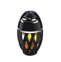 Wholesale mobile phone torch light - New Led flame speaker Torch atmosphere Wireless speakers&Outdoor Portable Stereo Speaker with Enhanced Bass LED flicker warm Light DHL Free