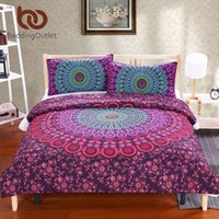 Wholesale Queen Blanket Soft - Blanket BeddingOutlet Mandala Bedding Posture Million Romantic Soft Bedclothes Plain Twill Boho 3Pcs drap de lit Favorite