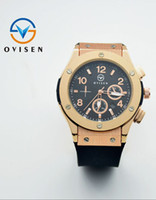 Wholesale Men Watches Solar Powered - luxury man big bang quartz rose gold aaa watches black dial mens watch rubber band men skelton spotwatch hub cheap band military watches