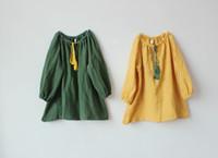 Wholesale Korean Girl Trading - Spring summer new children cotton skirt Korean foreign trade department girls dress color Sen cotton skirt