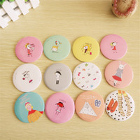 Wholesale Lapin Cute - New cute fifi lapin hand make-up Mirror portable pocket cosmetic mirror Fashion Wholesale Free Shipping