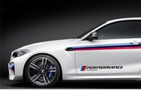 Wholesale Car Skirts - Car Styling M Color Performance Reflective Door Sticker Limited Edition Side Skirt Stickers for BMW 1 3 5 7 Series X3 X5 X6
