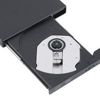 harici combo sürücüler toptan satış-Toptan-2016 Yeni USB 2.0 Harici DVD Combo CD-RW Brülör Sürücü CD + -RW DVD ROM Siyah