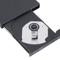 Wholesale external combo drive - Wholesale- 2016 Newest USB 2.0 External DVD Combo CD-RW Burner Drive CD+-RW DVD ROM Black