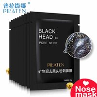 Wholesale Skin Cleasing - PILATEN Nose Blackhead Mask Skin Care Beauty Mineral Mud Adsorption Shrinking Deep Cleasing Anti Aging Black Mask Facials