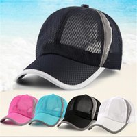 2017 Homens e mulheres Snapbacks Caps cabidos Outdoor Holiday Sunshade Baseball Sun Visor Chapéus Quick-dry Ventilation Mesh Baseball Cap