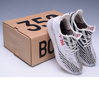 Wholesale Yellow Oxford Shoes - Sport Running SPLY-350 V2 Sports Shoes outlets Y boost V2 350 oxford triple white Zebra UV light Kanye west sneaker