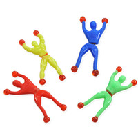 ingrosso il gioco si arrampica muro-Climbing People Climbing Man Sticky Toy Stick Soft Glue Parete da arrampicata People Birthday Party Favors Regalo Natale Capodanno