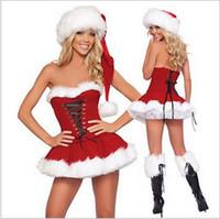 Wholesale Adult Mascot Costume Sexy Woman - 2017 mascot new sexy fashion Christmas dress adult girl Christmas uniform Christmas performance lucky costume Lcm