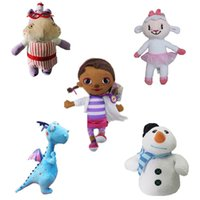 Wholesale Dragon Stuffed Doll - Girls 2015 Doc McStuffins Doctor Friend Girls & Dragon & Sheep & Hippo 30cm Big Size Plush Toys Stuffed Dolls Brinquedos Gift