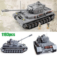 Wholesale Panzer Iv - Century Military WW2 German Panzer IV F2 Tank 3D Model Cannon Panzerkampfwagen 923 Building Blocks Armored Forces kazi KY82010 Toys