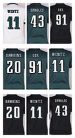 Wholesale Black Eagle Order - Womens Philadelphia Eagle jerseys #11 Carson Wentz #20 Brian Dawkins #43 Darren Sproles 91 cox White Green Black Game Jerseys Mix Order