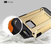 zırh çift katmanlı örtü toptan satış-Iphone için X XS Max XR 8 7 I7 7 Artı SE 5 5 S 6 S 6 ARTı Hibrid Zırh TPU Kaplama Sert Kılıf Çift Katmanlı Ince Dalga Darbeye Dayanıklı Cilt Kapak Defender
