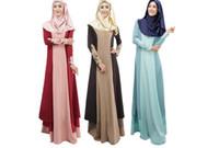 mujeres islámicas kaftan al por mayor-Abaya mujeres turcas vestidos musulmanes vestido islámico jilbabs y abayas musulmane vestidos longos pavo hijab ropa dubai kaftan M056