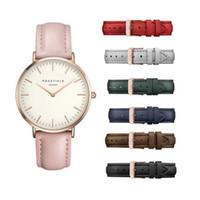 Wholesale Thin Gold Ladies Watch - Luxury brand women's accessories Reloj Mujer leather quartz watch ladies DW casual ultra-thin ladies watch Montre Femme