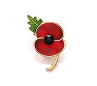 Wholesale poppy flower brooch for sale - Group buy quot Gold Tone Red Enamel Poppy Flower Brooch Souvenir RBL Badge Pin