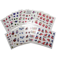 Wholesale Wholesale Pattern For Nail Art - Wholesale 50 Sheets Mixed Designs Water Transfer Nail Art Sticker Watermark Decals DIY Decoration For Beauty Nail Tools Random Patterns