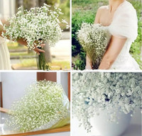 Wholesale Cheap Baby Decorations - High Quanlity 100Pcs lot Gypsophila silk baby breath Artificial Fake Silk Flowers Plant Home Wedding Party Home Decoration Cheap Sale