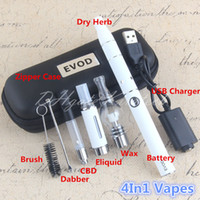 Wholesale Ago Dry Herb Vaporizer Atomizer - 4 in 1 Vape Starter Kit Globe Glass Wax Pen Ago Dry Herb Vaporizer Thick Oil Tank Cartirdge MT3 Eliquid Atomizers Dabber Brush