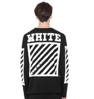Wholesale Young Fashion Prints T Shirts - New Off White Printed Preppy Style Long Sleeve Sought After By Young Men Oversized T Shirt Casual Hip Hop Cotton Tops Tees S-3XL