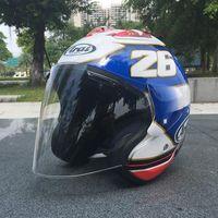 Wholesale Half Face Motorbike Helmets - 2017 ARAI Dual Use Skull Motorcycle Helmet Capacete Casco Novelty Retro Casque Motorbike Half Face Helmet free shipping