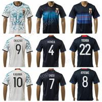 Wholesale Japanese Uniform Blue - Japan Soccer Jersey Japanese Football Shirt Uniform Kits Foot Tshirt Custom 9 OKAZAKI 4 HONDA 10 KAGAWA 7 ENDO 5 NAGATOMO 2 UCHIDA 3 SAKAI