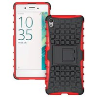 Wholesale E5 Case - Rugged Defender Armor Cell Phone Protective Hybrid Kickstand Case For Sony Xperia XA Ultra E5 X Z5 Premium Shockproof