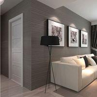 Wholesale vertical striped wallpaper - Wholesale- Plain dark gray vertical striped wallpaper waterproof PVC solid color wallpaper Engineering clothing papel de parede para quarto