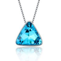 Wholesale RNAFASHION New popular vintage thirty seconds to mars Necklace Crystal triangle pendant band logo jewelry m NO287 Clothing Accessorie