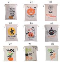 Wholesale Kids Candy Handbag - Christmas gift bag Handbag Halloween pumpkin printing Drawstring bag kids candy bag 48*36cm C2483