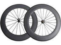 Wholesale Wheelset Clincher China - SAT No outer holes 23mm Width 88mm clincher Tubular carbon wheels road bike wheelset ready compatible China Carbon Wheels