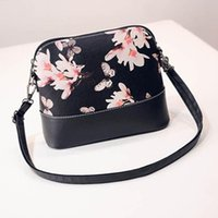 Wholesale Cell Phones Shell Shapes - Wholesale- Xiniu Mini Women Messenger Bags 2017 Women Printing Shoulder Bag Leather Purse Satchel Shell Shaped Cross Pattern #YHYW