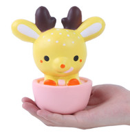 Wholesale Kawaii Deer Wholesale - 15CM Squishy Jumbo Kawaii Cup Deer Cream Scented Very Slow Rising Decompression Squeeze Toys For Kids Doll Gift Fun
