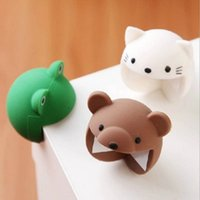 Wholesale Cornered Cat - Cute Baby Table Desk Corner Protector Animal Shaped 3.8cm Safe Kids Silicon Anticollision Cushion Cat Frog
