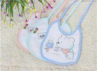 Wholesale Newborn Clothes China - Freeshipping By China Post Air Baby&Kids Cotton Bibs Newborn Girls Boys Infant Cartoon Bandana Burp Clothes