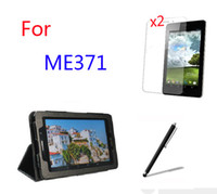 """Wholesale Me371 Case - Wholesale- 4in1 Luxury Magnetic Folio Stand Leather Case Cover +2x Screen Protector +Stylus For ASUS Fonepad 7 ME371 ME371MG K004 7"""" Tablet"""