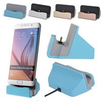 Wholesale cradle charger for blackberry - Quick Charger Docking Stand Station Cradle Charging Sync Dock With Retail Box For Samsung S6 S7 S8 edge Note 5
