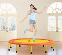 Wholesale New Design Hot Sale inch Diameter cm folding Trampolines Spring bounce bed Euro Bungy fitness Equipments