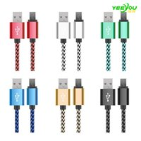 Wholesale Usb Cable For Galaxy 6ft - Mirco USB Cable braided V8 Charging Type C Data Sync 3FT 6FT Colorful For Samsung Galaxy S8 S7 Macbook 12 Inch No Package