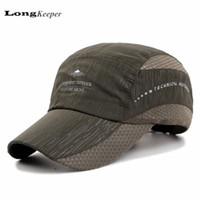 Wholesale Dry Bones Hat - Wholesale- LongKeeper Mens Snapback Caps for Men Women Quick Dry Sun Hats Bone Gorras Beisbol Chapeu 2017 New GU-14