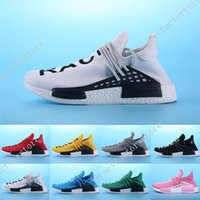 Wholesale Hard Gift Boxes - Cheap 2017 Top Gift Shoes Sneakers NMD HumanRace Hot mens Running Shoes sneakers for men Couple Race shoes Human Race Size 36-45 With Box